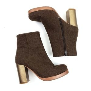 Anthropologie Cubanas High Field Wool Booties 39